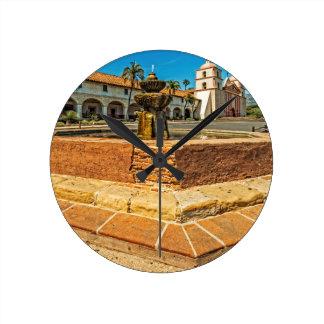 Mission Santa Barbara Round Clocks
