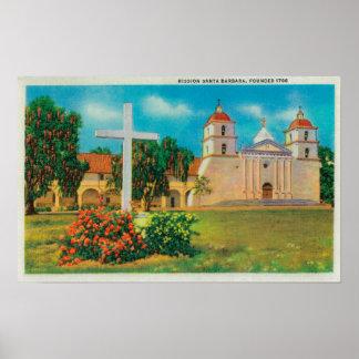 Santa barbara posters santa barbara prints art prints for Case in stile missione santa barbara