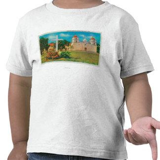 Mission Santa Barbara View Tee Shirts