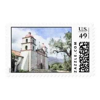 Mission Santa Barbara Watercolor Postage