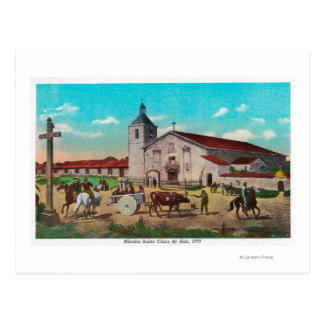 Mission Santa Clara de AsisSanta Clara, CA Postcard