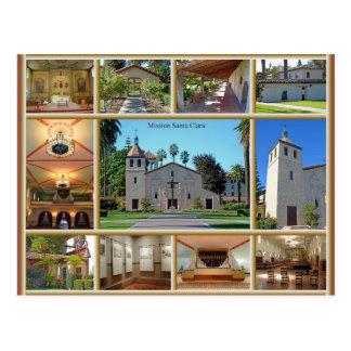 Mission Santa Clara Postcard