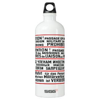Mission Sign Memorabilia Aluminum Water Bottle