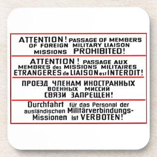 Mission Sign Memorabilia Beverage Coaster