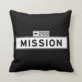 Mission St., San Francisco Street Sign Pillows