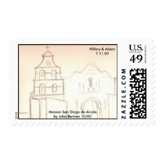 Mission stamp, Mission San Diego de Alcalaby Jo... Postage