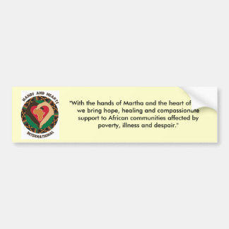 Mission Statement Bumper Sticker