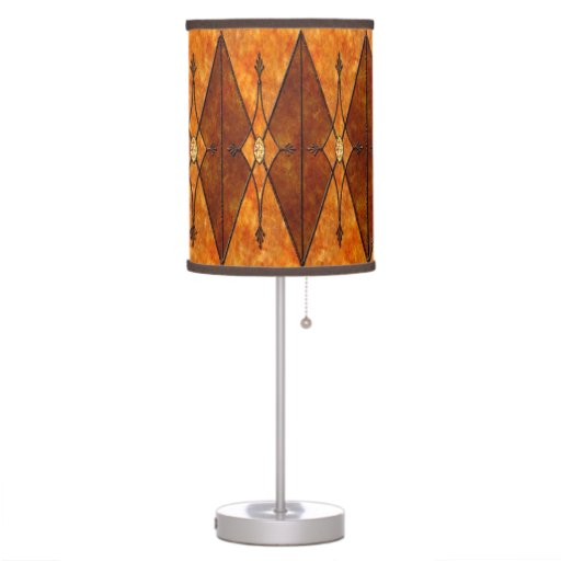 mission style mica and metal table lamp zazzle. Black Bedroom Furniture Sets. Home Design Ideas