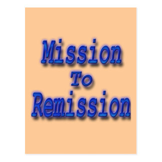 Mission To Remission blu Postcard