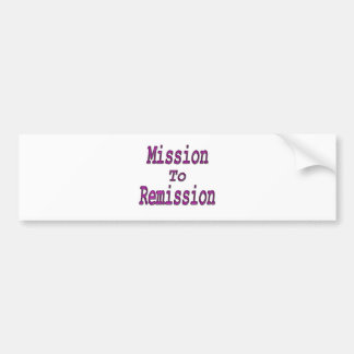 Mission To Remission pink Bumper Sticker