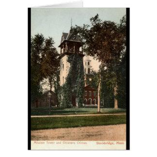 Mission Tower Stockbridge Mass. 1906 Vintage Card
