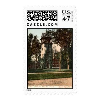 Mission Tower Stockbridge Mass. 1906 Vintage Postage Stamp