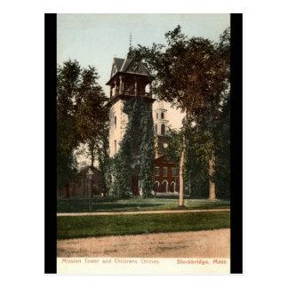 Mission Tower Stockbridge Mass. 1906 Vintage Postcard