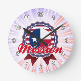 Mission TX Round Clock