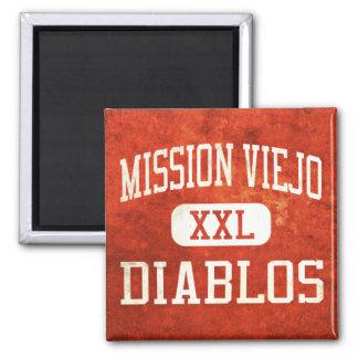 Mission Viejo Diablos Athletics 2 Inch Square Magnet