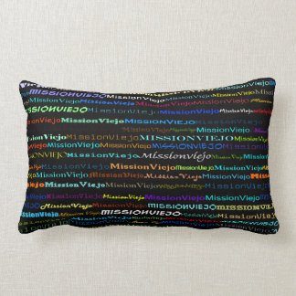 Mission Viejo Text Design I Lumbar Pillow