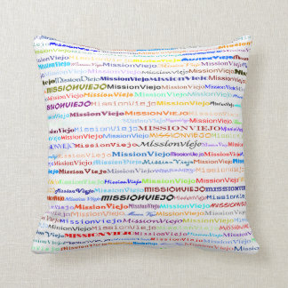 Mission Viejo Text Design II Throw Pillow