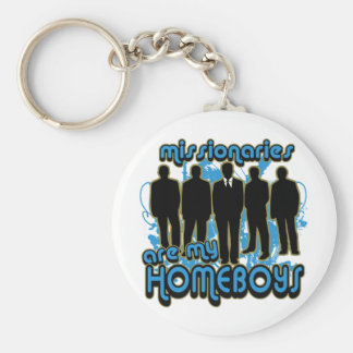 Missionaries Are My Homeboys Keychain