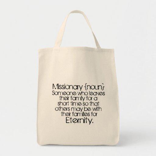 Missionaries Eternity Canvas Bag