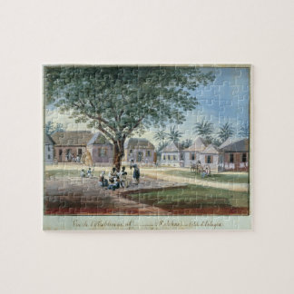 Missionary Buildings, St. Johns, Antigua (w/c and Jigsaw Puzzle