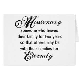 Missionary Eternity Card