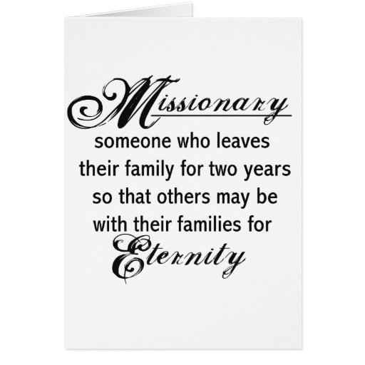 Missionary Eternity Greeting Card