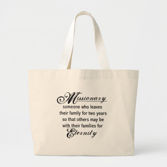 Missionary Eternity Large Tote Bag