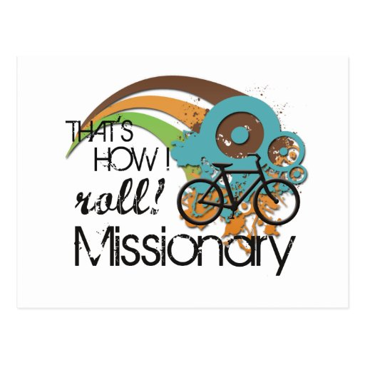Missionary How I Roll Postcards