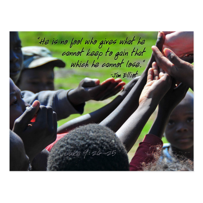 Missionary Jim Elliot Quote Postcard