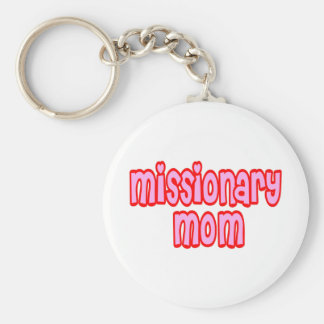 Missionary Mom Basic Round Button Keychain