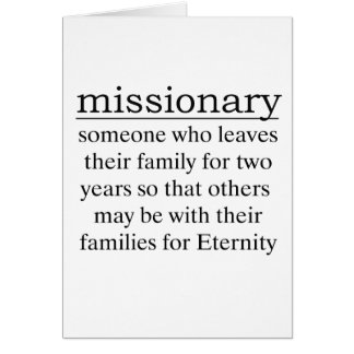 Missionary Two Years Card