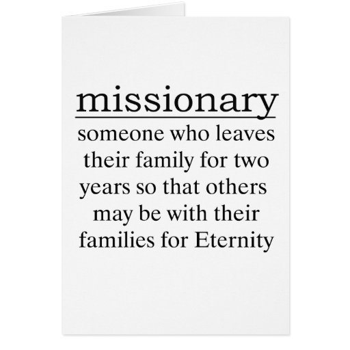 Missionary Two Years Greeting Card