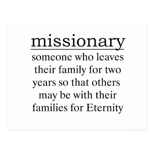 Missionary Two Years Postcard