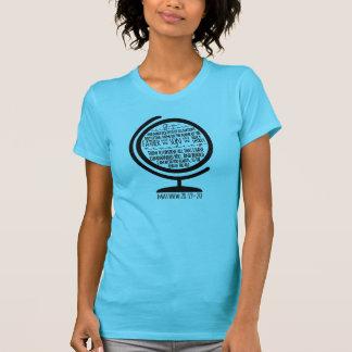 Missions T-Shirt: Black Great Commission on Globe Shirt