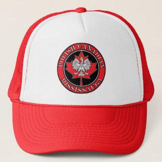 Mississauga Round Polish Canadian Leaf Trucker Hat