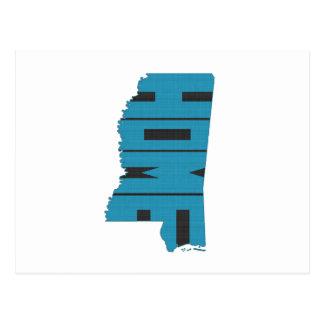 Mississipi Home State Postcard