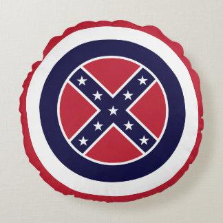 Mississipi minimalist flag round pillow