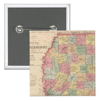 Mississippi 2 pin cuadrada 5 cm