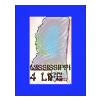 """Mississippi 4 Life"" State Map Pride Design Letterhead"
