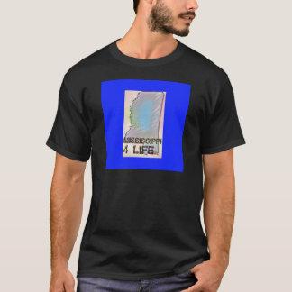 """Mississippi 4 Life"" State Map Pride Design T-Shirt"