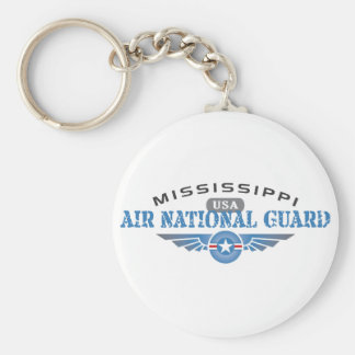 Mississippi Air National Guard Basic Round Button Keychain