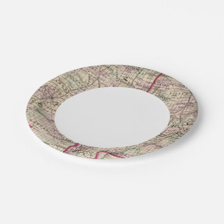 Mississippi and Alabama Paper Plate