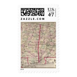 Mississippi and Alabama Postage