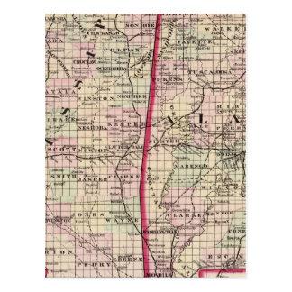 Mississippi and Alabama Postcard