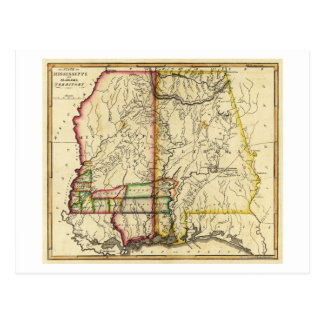 Mississippi and AlabamaPanoramic Map Postcard