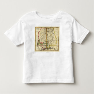 Mississippi and AlabamaPanoramic Map Toddler T-shirt