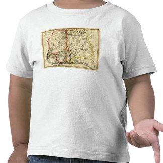 Mississippi and AlabamaPanoramic Map Shirts