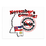 Mississippi Anti ObamaCare – November's Coming! Post Card