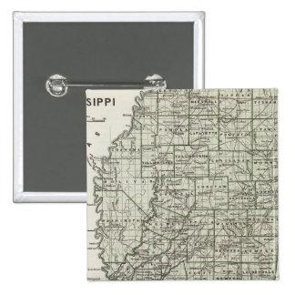 Mississippi Atlas Map Pinback Button