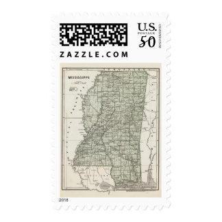 Mississippi Atlas Map Postage